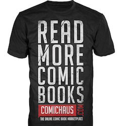 Comichaus - Read More Comic Books T-Shirt LARGE