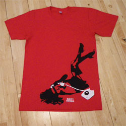 Girls Red Small tee